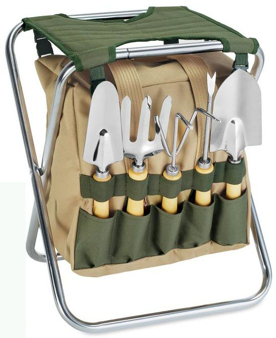 Gardener Folding Seat/Tote-Hunter Green