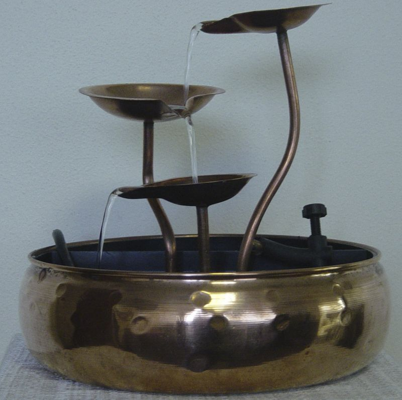 3 Leaf Dish Copper Fountain