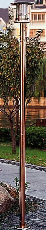Copper Single Tower Solar Light