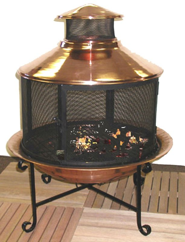 Premium 3 in One Copper Chimenea