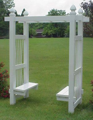 Courtyard Arbor with Benches