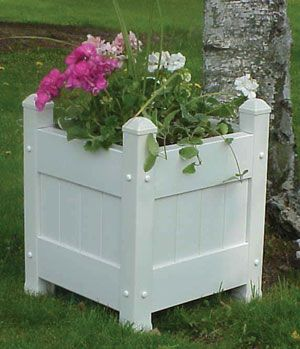 Vinyl Planter Box White