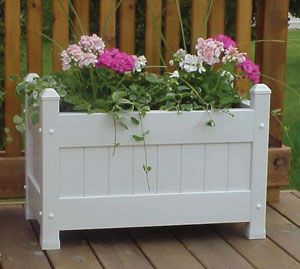 Large Vinyl Planter Box White