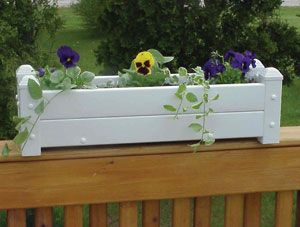 Decorative Vinyl Planter White