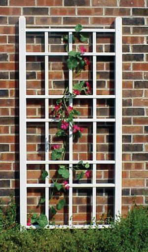 Dura-Trel Cottage Vinyl Wall Trellis White