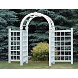 Dura-Trel Grand Colonial Vinyl Arch Arbors w/Wings