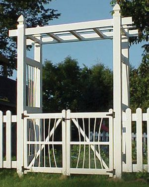 Courtyard Arbor with Gate