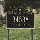 Standard Address Plaque Stake Black
