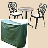 Bistro Set Cover Round Table 2 Chairs