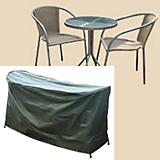 Cafe Set Cover Round Table+Chairs