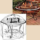 Low Firepit Cover ( 36In Diameter X 26In High)