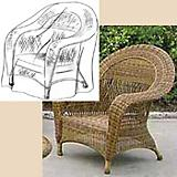 Wicker Chair Cover (38In X 36In X 36In H)