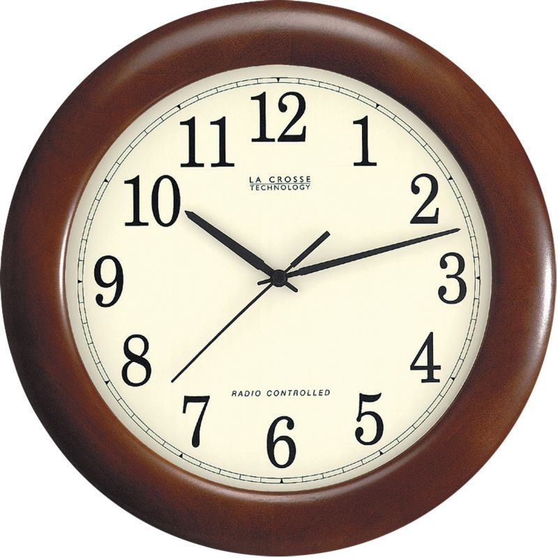 12.5in Atomic Wall Clock Walnut