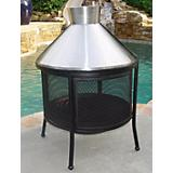 Steel Dome Outdoor Fireplace