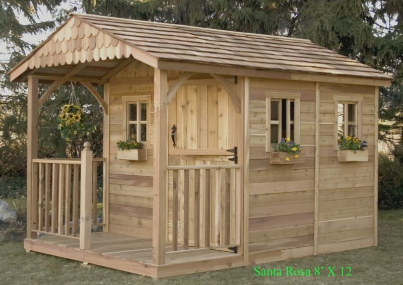 Outdoor Living Today Santa Rosa Wood Shed 8x15