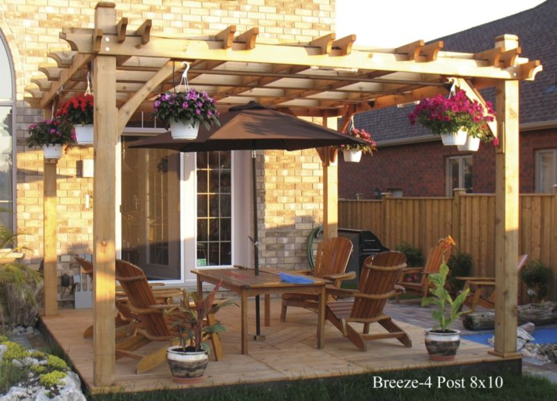Breeze Cedar Pergola-4 Post 8x10