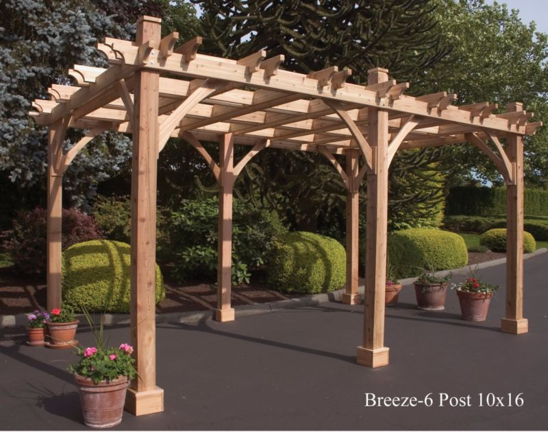 Breeze Cedar Pergola-6 Post 12x16