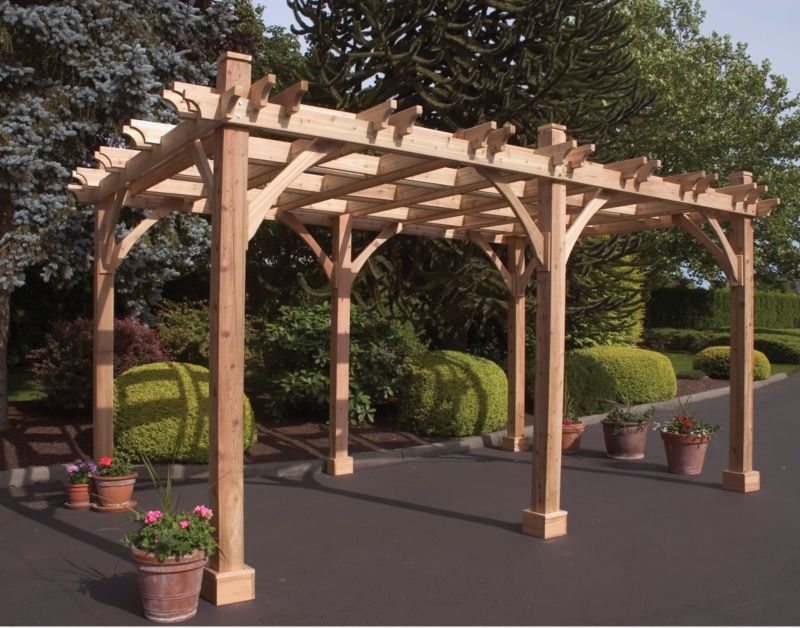 Breeze Cedar Pergola-8 Post 10x31