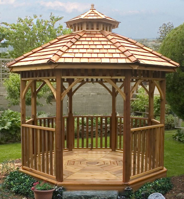 10 ft Creekside Octagon Gazebo-Precut