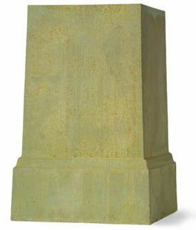 Bronzage Finish Square Pedestal