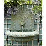 Great Dolphin Bowl Wall Fountain Terracotta Finish