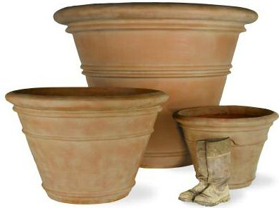 Large Terra Cotta Fiberglass Planter 24in