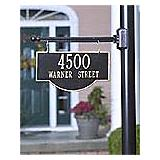 Arch Two Sided Address Plaque