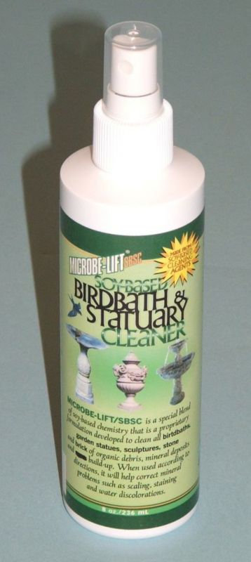 8 oz Soy-Based Bird Bath & Statuary Cleaner