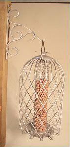 Caged Nut Feeders Large Pewter