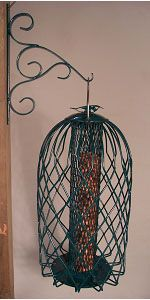 Caged Nut Feeders Large Green