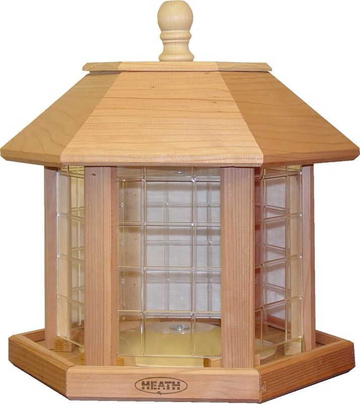 Le Grand Gazebo Bird Feeder - Natural Cedar (HEATH696 085199006965 Wild Bird Supplies Bird Feeders) photo