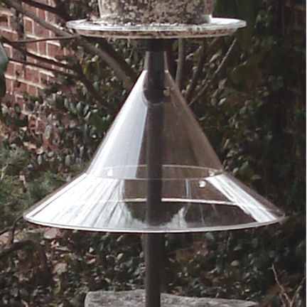 Pole Mounted Bird Feeder Squirrel Baffle-Clear (AR154P 724024915408 Wild Bird Supplies) photo