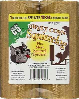 Sweet Corn Squirrel Log - 2 Pack (CS608 00018222016082 Wild Bird Supplies Bird Feeders) photo