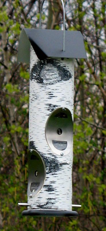 Thistle Seed Birch Log Bird Feeder (VCLOG2T 739305105584 Wild Bird Supplies Bird Feeders) photo