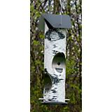 Thistle Seed Birch Log Bird Feeder