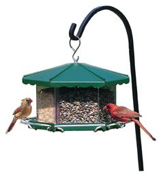 Triple Bin Party Feeder (HS3500 073928835009 Wild Bird Supplies Bird Feeders) photo