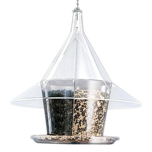 The Sky Cafe Clear Feeder w/ Dividers (AR362 724024362141 Wild Bird Supplies Bird Feeders) photo