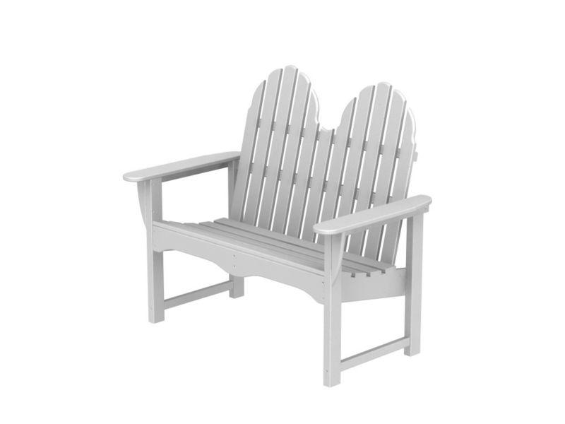 Polywood Adirondack Bench White