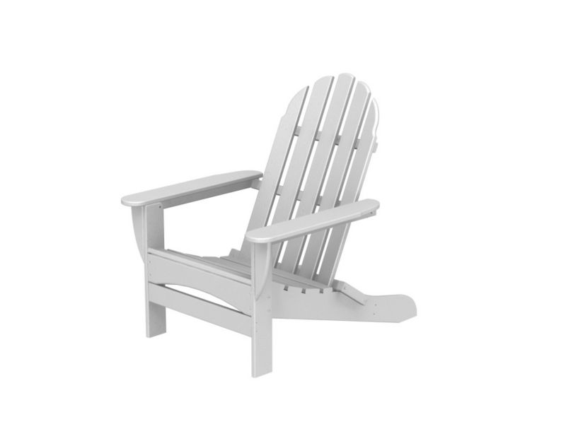 Polywood Adirondack Curved Back Chair Sand
