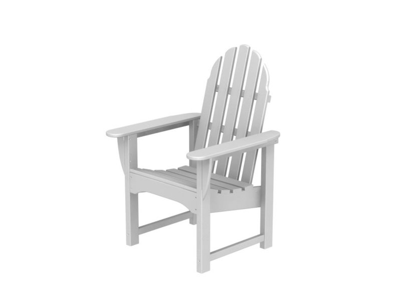 Polywood Adirondack Dining Chair White