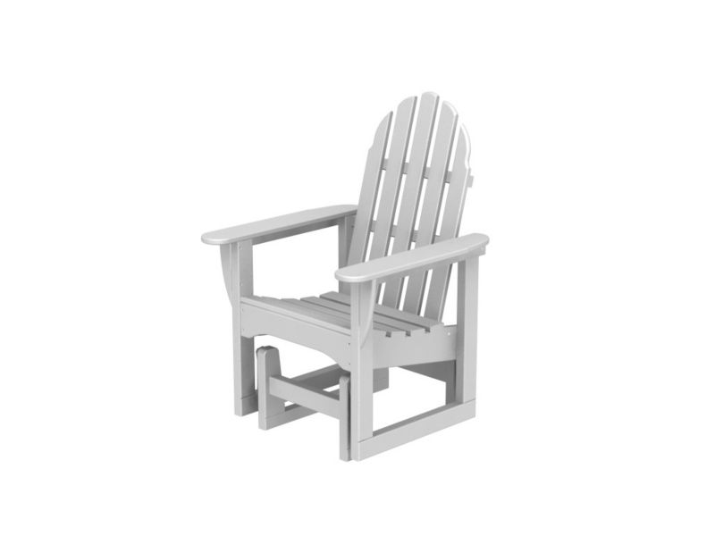 Polywood Adirondack Glider Chair Black