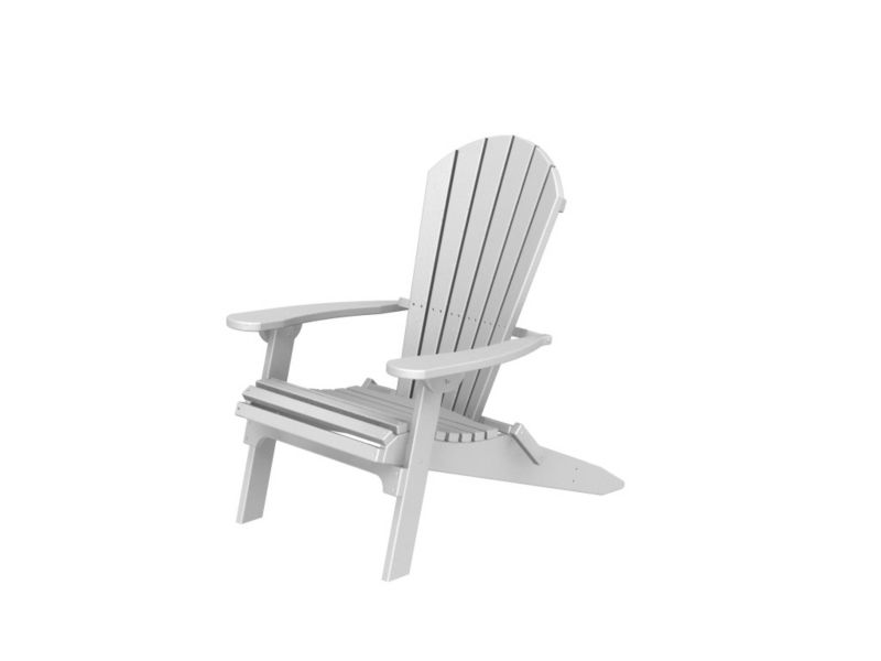 Polywood Adirondack Shell Chair Black