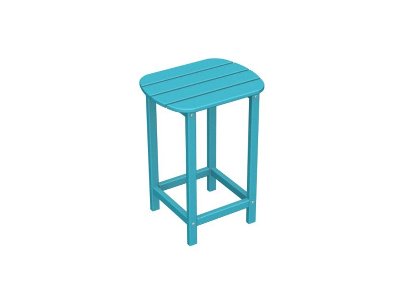 South Beach Counter Side Table Sunset Red