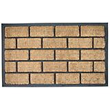 Liner Brick Rubber Back Doormat