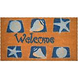 Shells Welcome Coir Doormat