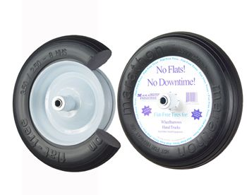 3.5/2.50-8 Flat Free Wheelbarrow Tire