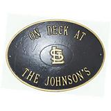 MLB On Deck Oval Plaque