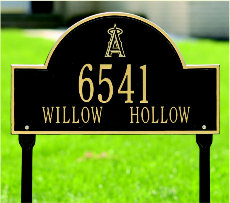 Arched Lawn Plaque-MLB Boston Red Sox BG