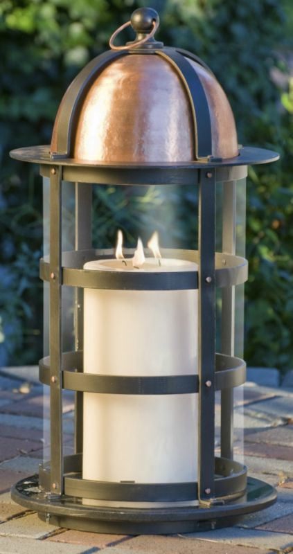 Big Daddy Lantern With Granite Base
