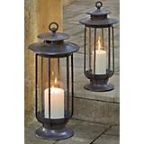 Large and Small Hurricane Lantern Set